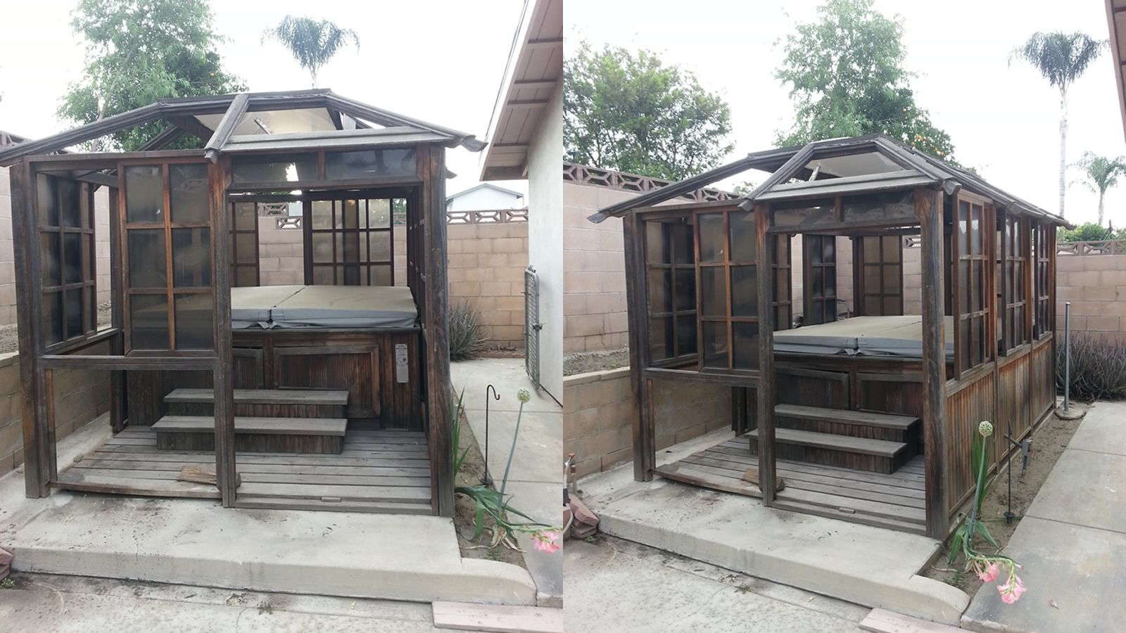 So cal spa removal temecula spa removal company for Cal spa gazebo