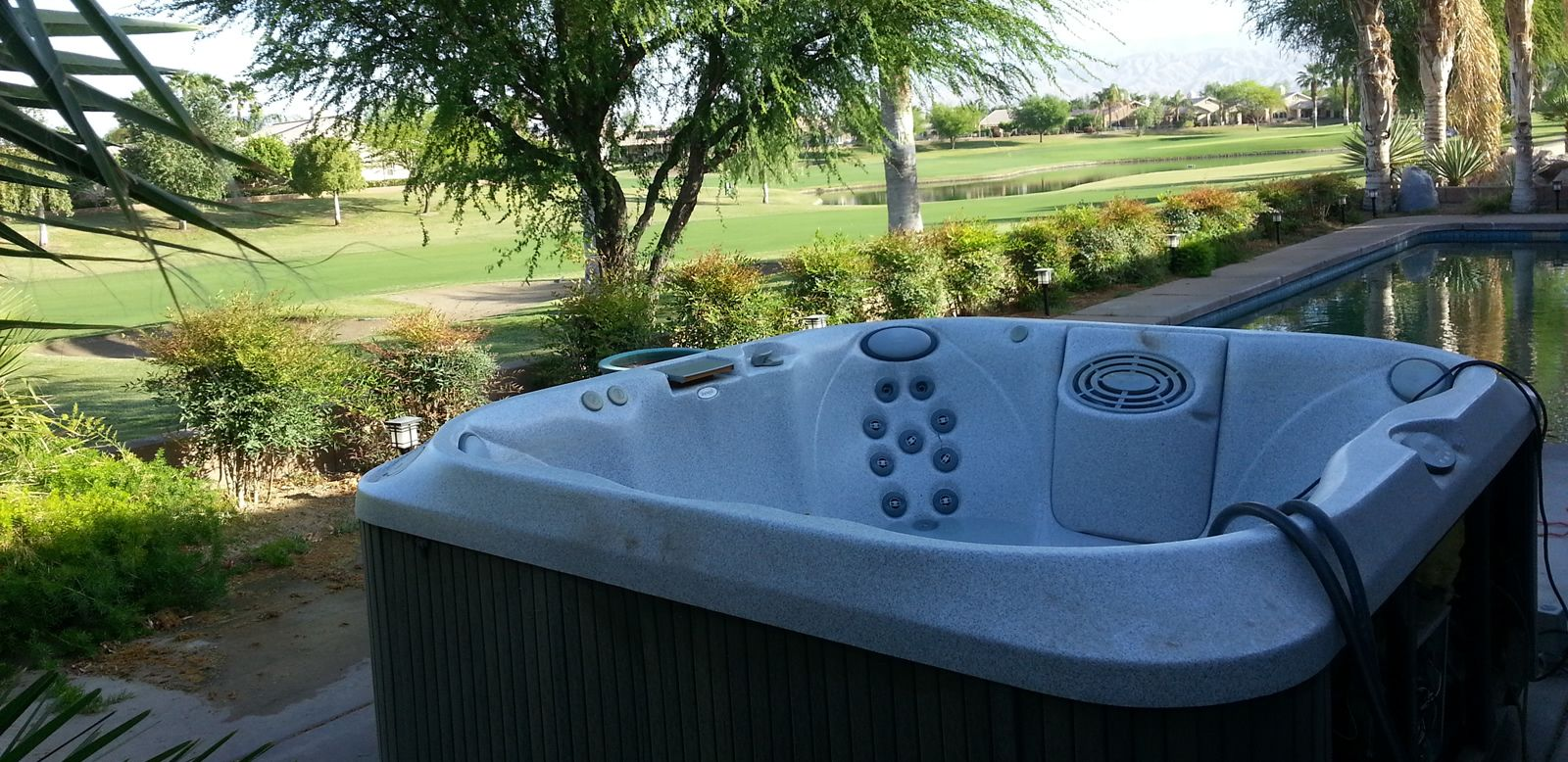Above ground hot tub removal in Santa Barbara CA before and after