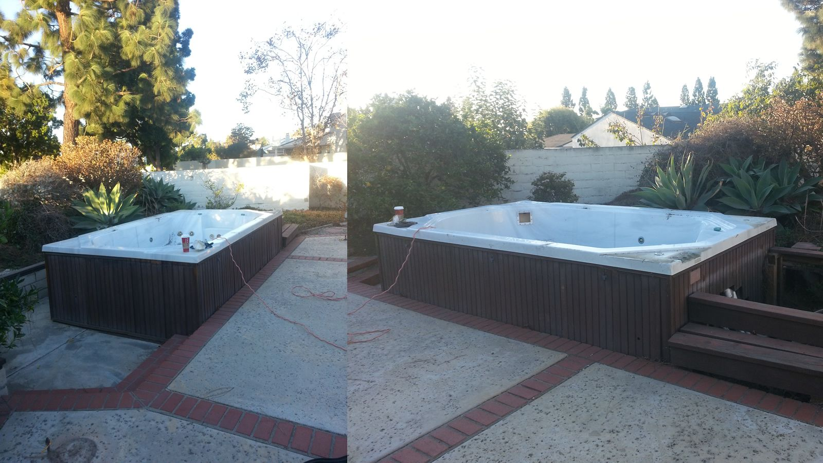 Swim spa hot tub removal in Menifee CA after